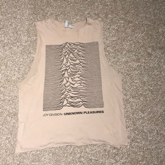 Divided Tops - Joy division pale pink tank top